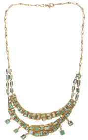 18kt yellow gold and emerald necklace