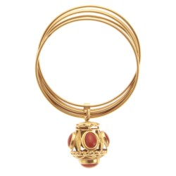 18kt yellow gold and coral bracelet
