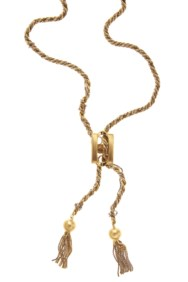 18kt two color gold necklace