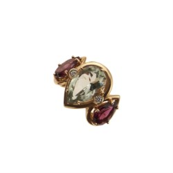 18kt yellow gold and tourmaline ring